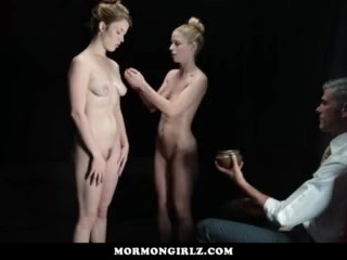 MormonGirlz-Two girls perform for creepy older man