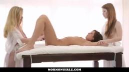 MormonGirlz - Due lesbiche seducono una ragazza etero