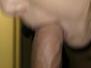 Drooling on Cock for Cum Shower