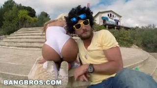BANGBROS - Blondie Fesser Twerking Her Big Ass In Public (ap14366)  big ass bang bros bangbros outdoors outside booty blonde public twerk milf twerking blondie fesser spain big butt ass parade