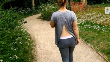 Love Fucking Outside with a Nice Cum Reward