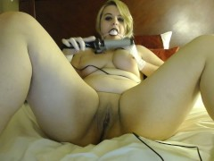 curvy blonde curling iron torture