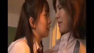 Japanese lesbian schoolgirl and MILF teacher