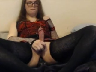 Femboy Cums Hard Riding Horsecock