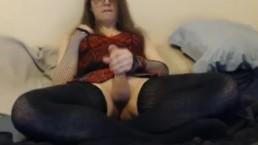Slutty Femboy Edges Big Cock