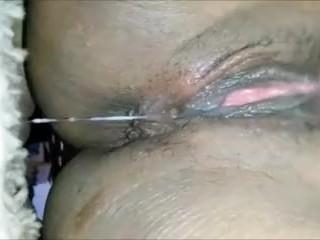 Ebony Massive Squirt & Pussy Play