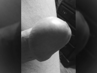 18 Years In the Making. Cute Cock And Balls Vibrated to Near Cumshot