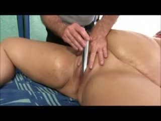 Fat Girl Danni Dawson Gets A Toy Massage - A Scene Filmed by Jeffs Models