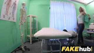 Chiropractor fake hospital doctor tits horny fucks after big milf massage uniform pov