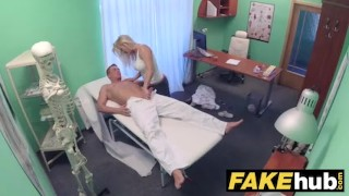 Massage chiropractor fake horny doctor hospital tits fucks milf after big mom real