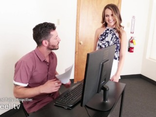 Preview 1 of Interactive - Secretary Dillion Harper Gets Plowed by Coworker