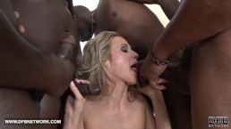 Face Fucked Deepthroat Cum Licking Swallow Blonde Interracial Hard Anal