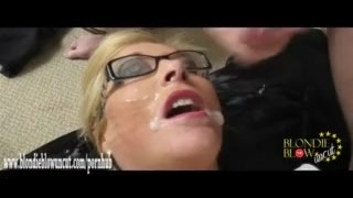 Blonde spunk showers facial in horny get drenched absolutely sluts cum compilation