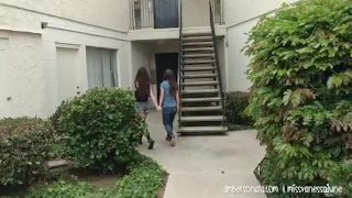Public Elevator Girl Fingers Girl Passionately! Girl solo