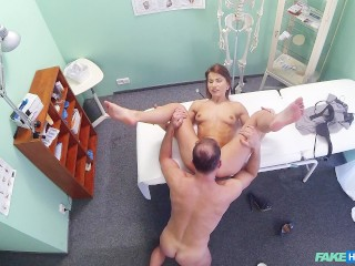 Doctor fucks his patient on the office desk