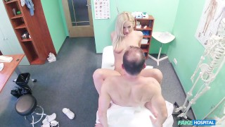 Euro babe gets sexual healing from her doctor