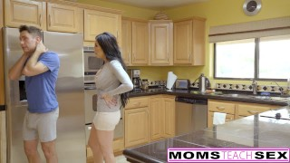 MomsTeachSex - First Time Threesome Is With Step Mom!  step daughter big tits big cock threeway blonde momsteachsex first time cumshot milf young sierra nicole shaved doggystyle eating pussy fake tits hot mom jaclyn taylor