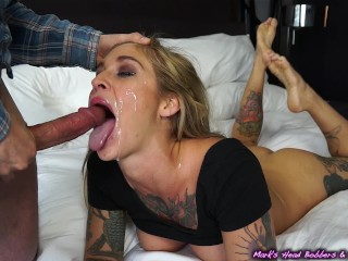 Alternative slut blackmailed for a piece of pussy