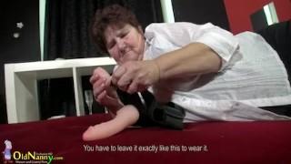 OldNannY Big Granny with natural big tits has sex porno