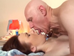 Step-Daughter Fucked Grandfather Teen Blowjob And cumshot licking pussy sex