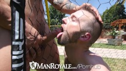 ManRoyale Aiden Hart fucked and facialed outdoors