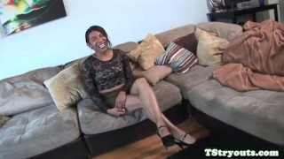Cocksucking mexian firsttime on tgirl camera tscastingcouch heels