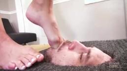 Facebox foot gagging & foot worship 1 preview Brattyfootgirls.com