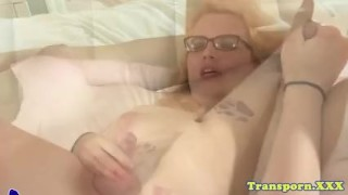 Amateur spex tranny toying her ass solo Blowjob tits