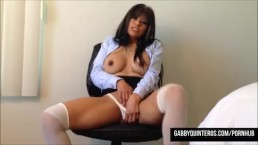 Horny Secretary Latina Gabby Q