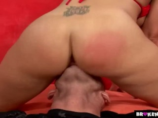 Valentines Day Sex Ecards Fucking, BrokenTeens- Brooke open her pussy for Johnny. Babe Blonde Cumsho