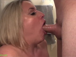 Trinity Bondage Fucking, Busty Maggie Green Gets a Monser Facial after a Shower Big Tits Blonde Blow