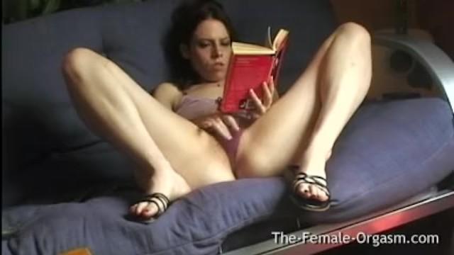 Read american erotica Home alone selfie reading erotica and masturbating