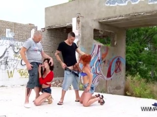 Tera patrick fucking videos myfirstpublic hardcore outdoors orgy foursome with two super hot chicks