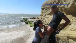 Jahan jayla beach fun public dick