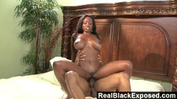 RealBlackExposed - Ebony Vixen Diamond Jackson Gets Her Pussy Filled.