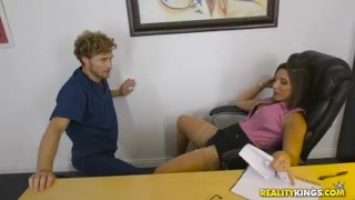 Preview 2 of Reality Kings - Abella Danger works late and gets some office dick