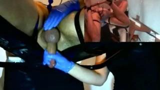 Femdom Cock Milking with Anal Play  prostate milking denial tied tease slave bdsm femdom amateur cum massage handjob bound bondage anal orgasm pip