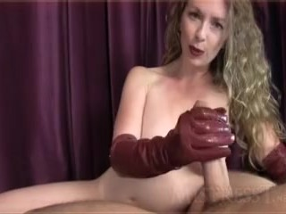 handjob Leather Gloves Joi mistress T