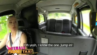 Female Fake Taxi Stud covers sexy drivers big tits in cum Teen homemade
