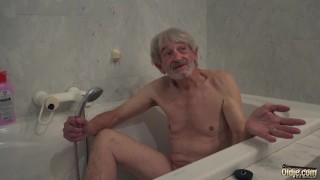 Preview 3 of Old Young cleaning lady gets fucked by wrinkled grandpa and swallows cum
