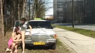 teen gets anal fucked from taxi driver