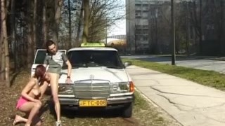 Anal fucked driver gets taxi teen from publicsex outdoor