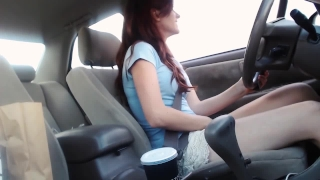 Public Drive Thru Masturbation & Cum @ ye old Taco Bell & Starbucks