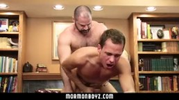 MormonBoyz- Beefy dad fucks young boy in his office
