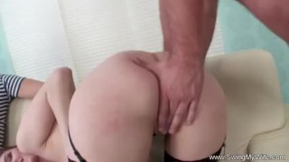 Redhead Wife Fucks Stranger For Husband  redhead rough milf old wife mom husband amateur wives swingmywife screwmywifeclub swingers threesomes mother anal hubby
