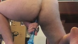 sissy boy plays with plug and toy for anal fun