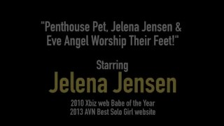 Penthouse Pet, Jelena Jensen & Eve Angel Worship Their Feet!