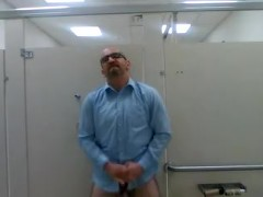 Jerking in Public Restroom