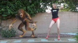 Sexy Legs Cougar and Werewolf