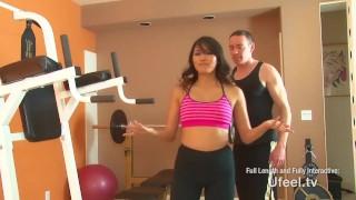 Interactive - Asian girl fucks personal trainer porno